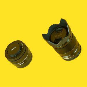 Sony Pancake lens feral equipment hire kit film equipment