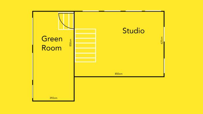 Studio Floor Plan Feral Equipment dimensions photography studio film London